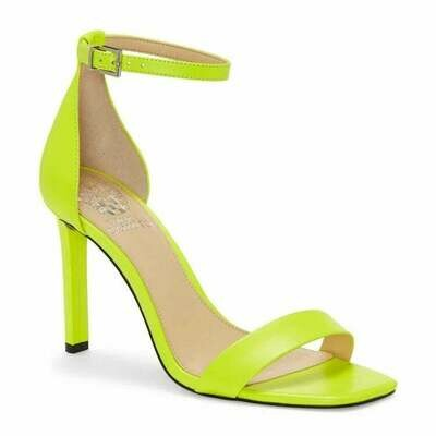 Vince Camuto Lauralie Ankle Strap Sandal In Highlighter Yellow