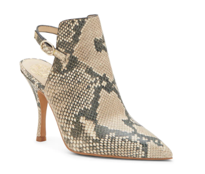 Vince Camuto Kaveen Snake Print Mule In Natural