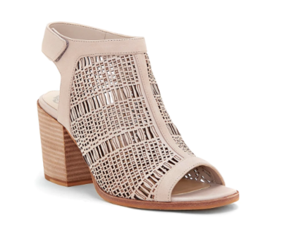 Vince Camuto Keannie Open Toe Bootie in Taupe