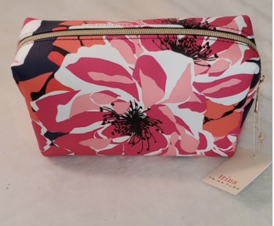 Trina Turk Cosmetics Bag in Pink Florals