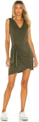 Monrow Supersoft Tank Dress in General Green