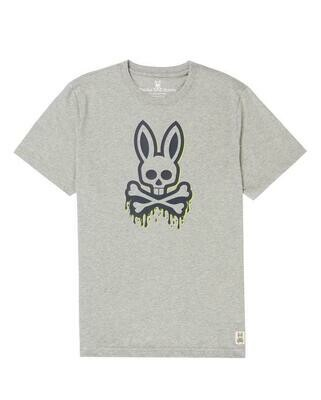 Psycho Bunny Portland Graphic Tee in Heather Grey