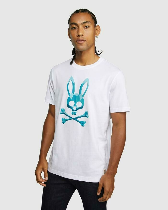 Psycho Bunny Fremlin Graphic Tee in White