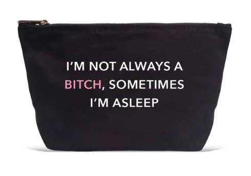 LA Trading Co. Sometimes I'm Asleep Pouch in Black