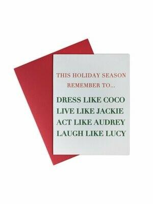 La Trading Co Greeting Card | Holiday Dress Like Coco