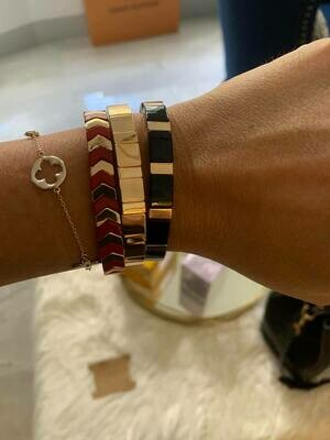 JZ StackZ Bracelets in Black, Red and Gold