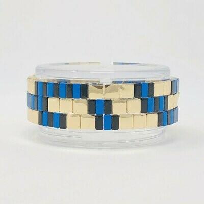 JZ StackZ  Blue & Bauble Bracelets