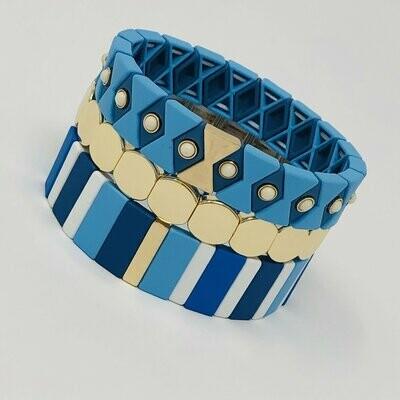 JZ StackZ Blue Mentos Bracelets
