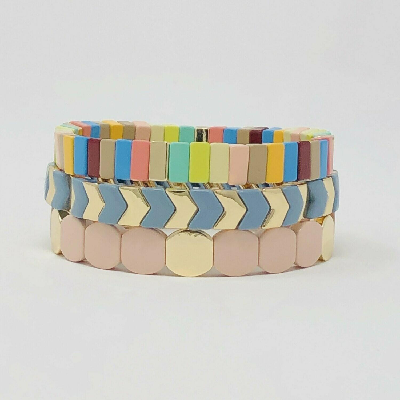 JZ StackZ Candy Wafer Bracelets