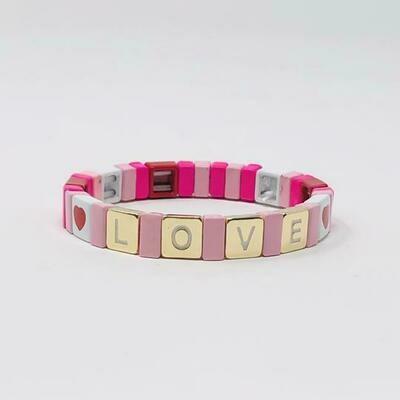 JZ StackZ Love Bracelets in Pink
