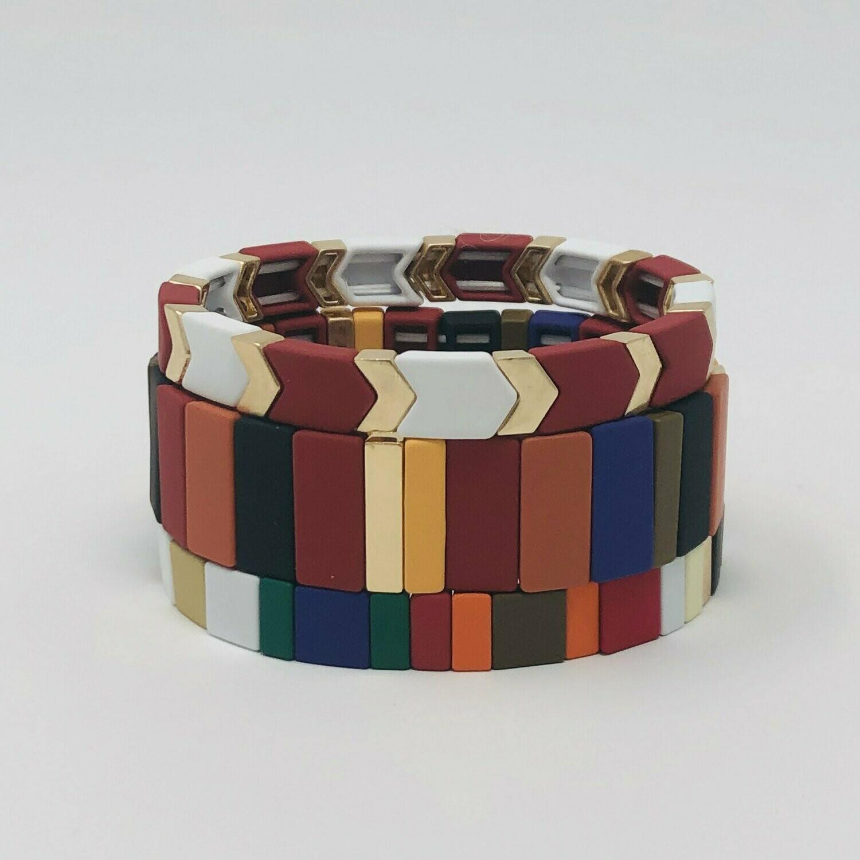 JZ StackZ Matte Finish Fall Colors Bracelets