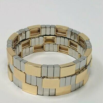 JZ StackZ Mixed Metals Bracelets
