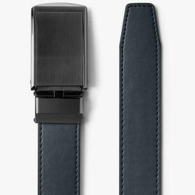 Slide Belt Navy Classic Belt With Gunmetal Buckle