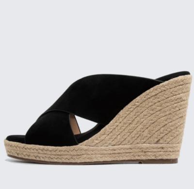 Nalho Lina High Wedge Sandal in Black
