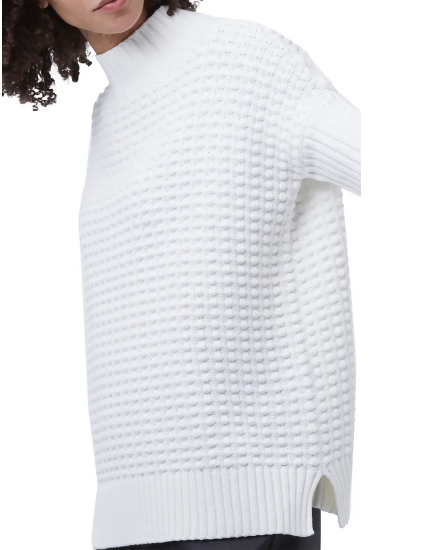 French Connection Mozart Popcorn Sweater in White