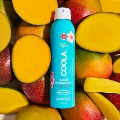 Coola Classic Body Organic Sunscreen Spray SPF 50 in Guava Mango