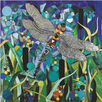 Dragonfly & Bullrushes