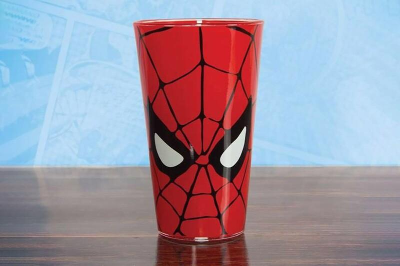 Spiderman Drinks Glass Marvel Comics