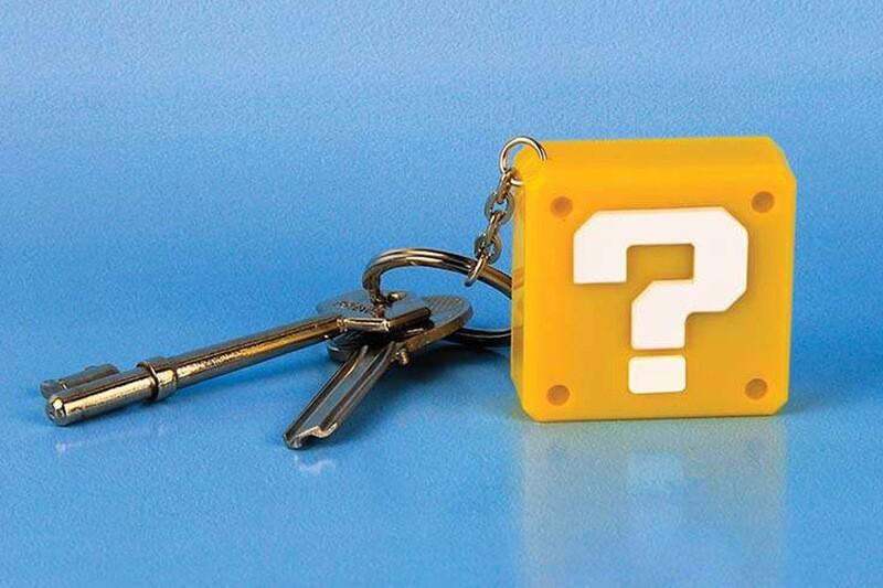 Super Mario Question Block Keyring Light