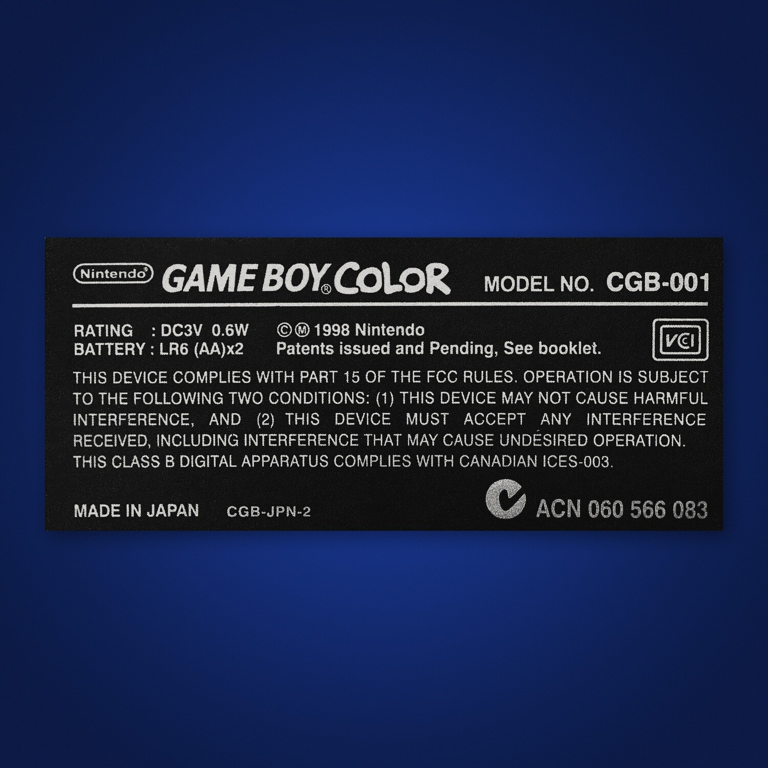 Game Boy Color Shell Sticker