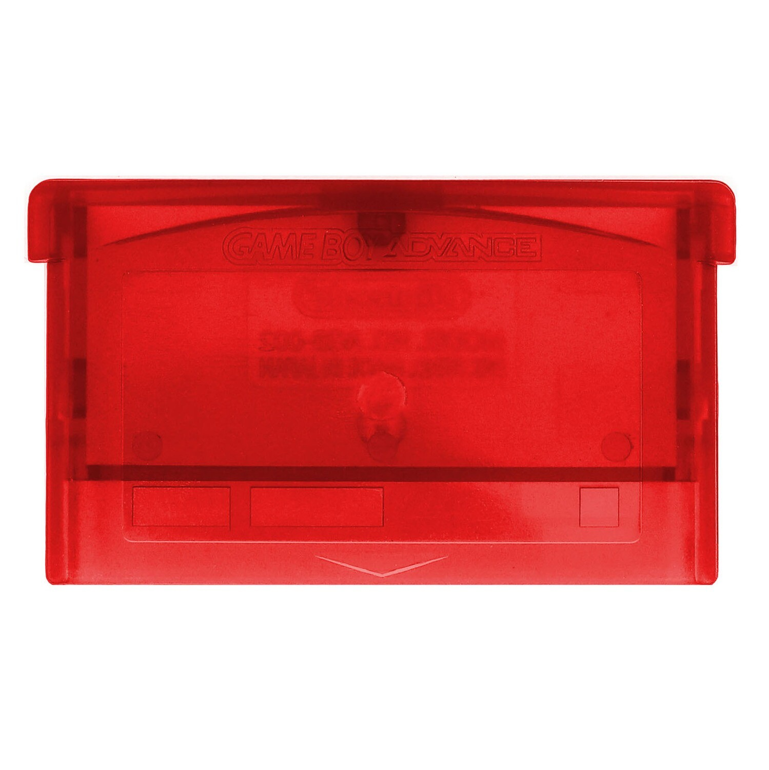 Game Boy Advance Game Cartridge (Clear Red)