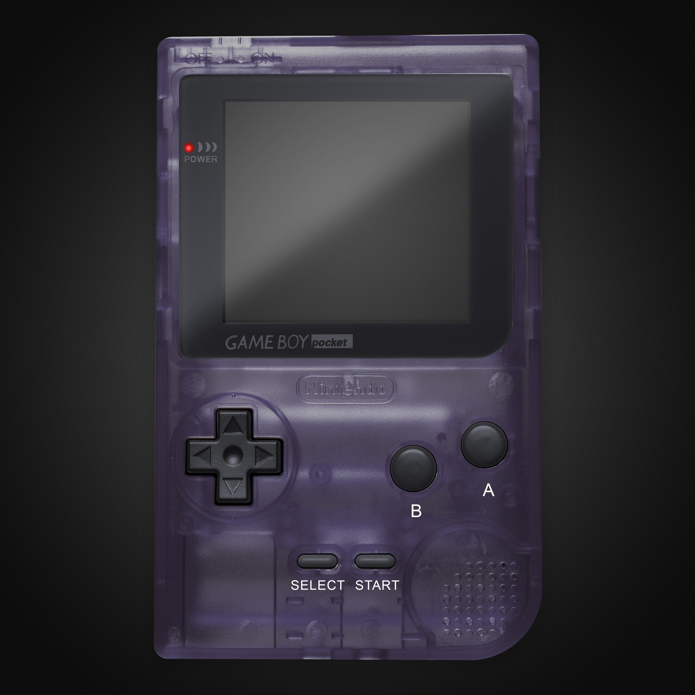 Game Boy Pocket Shell Kit (Clear Dark Purple)