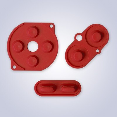 Game Boy Color Rubber Pads (Red)