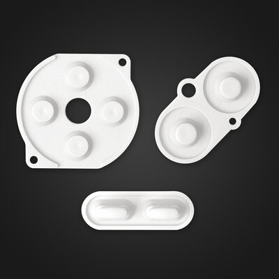 Game Boy Color Rubber Pads (White)