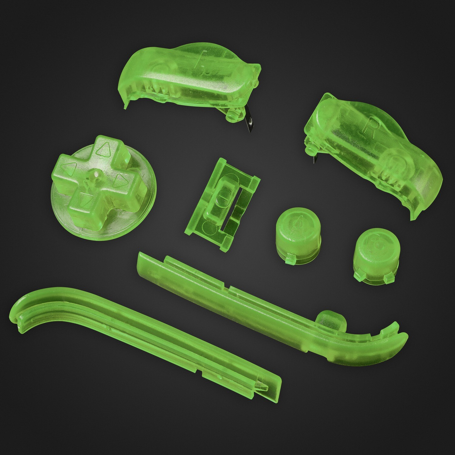 Game Boy Advance Buttons (Clear Green)