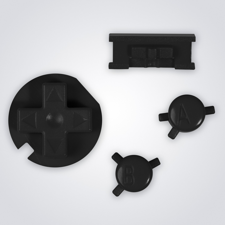 Game Boy Color Buttons (Black)