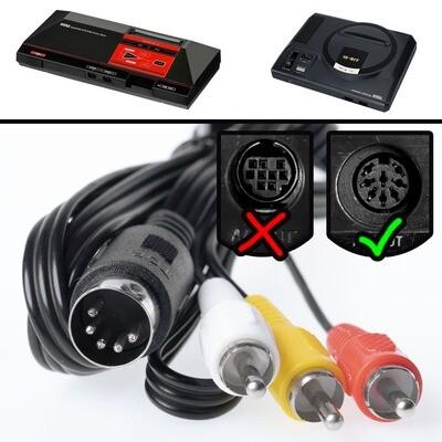 Mega Drive 1 / Genesis 1 AV Cable