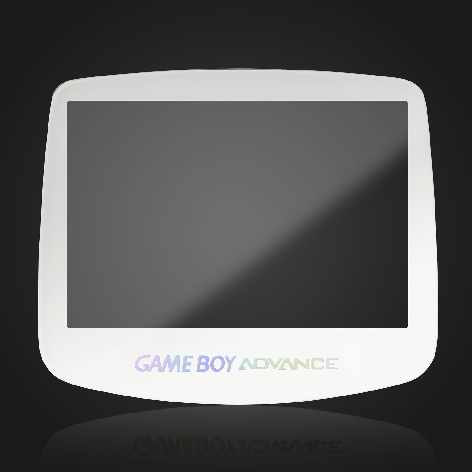 Game Boy Advance IPS Glass Screen (White Holographic)