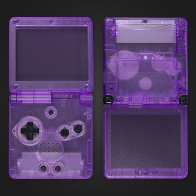 Game Boy Advance SP Shell Kit (Clear Purple)