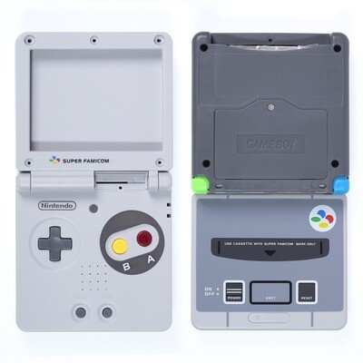 Game Boy Advance SP Shell Kit (SFC Super Famicom Grey)