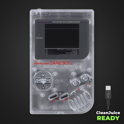 Game Boy Original IPS USB-C Shell Kit (Clear)