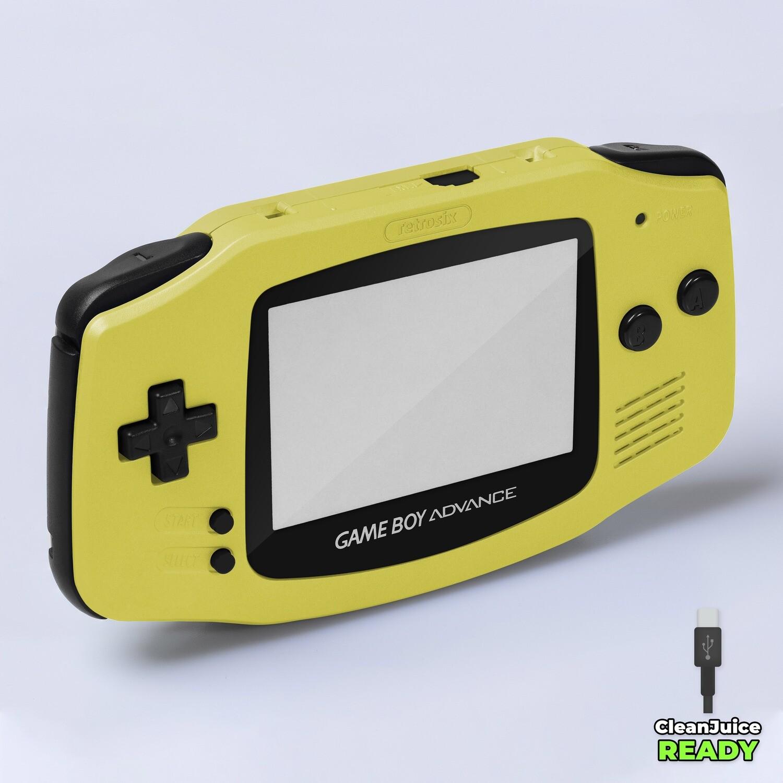 Game Boy Advance IPS USB-C Shell Kit (Pearl Yellow)