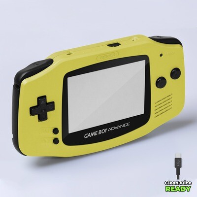Game Boy Advance IPS USB-C Shell Kit (Pearl Yellow)