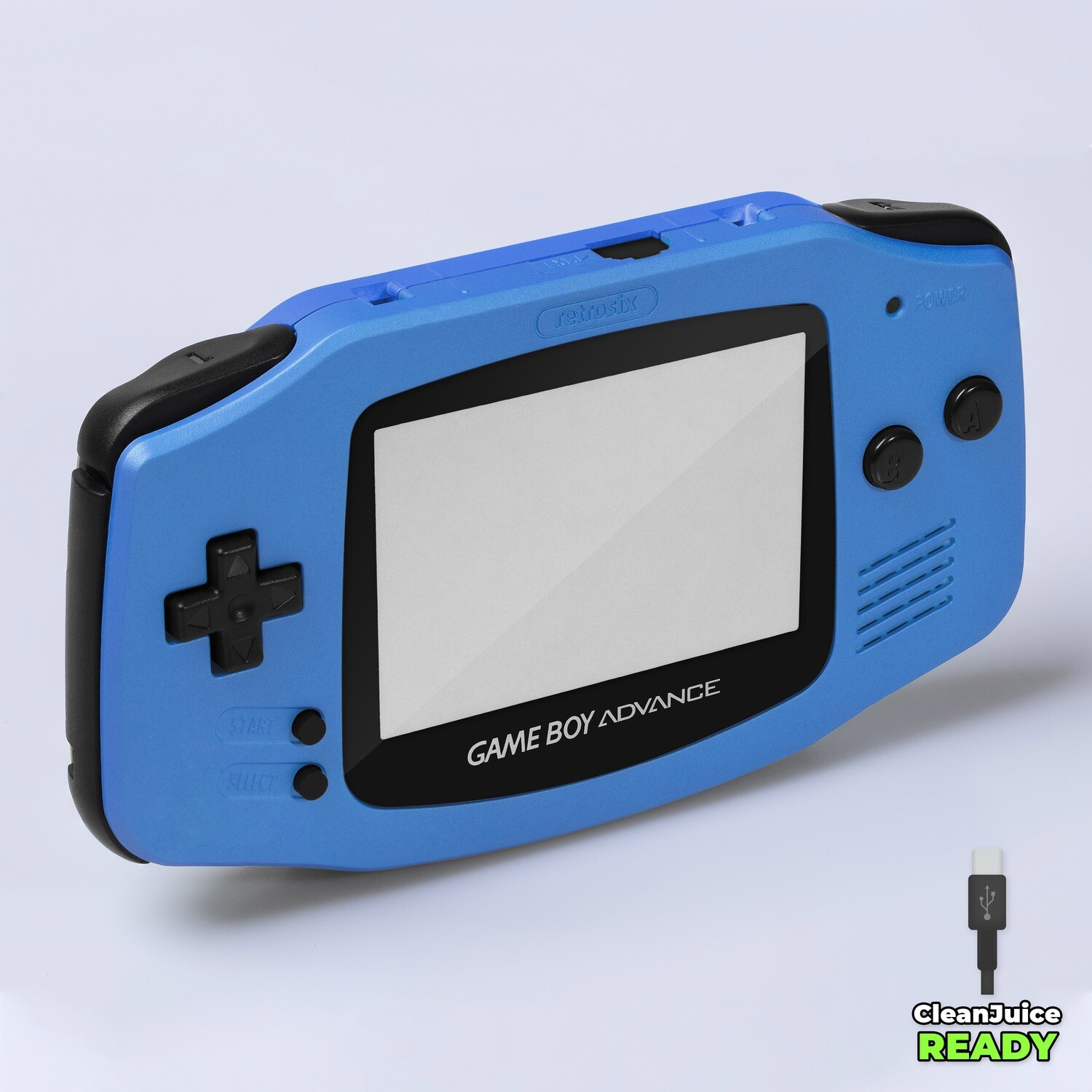 Game Boy Advance IPS USB-C Shell Kit (Pearl Blue)