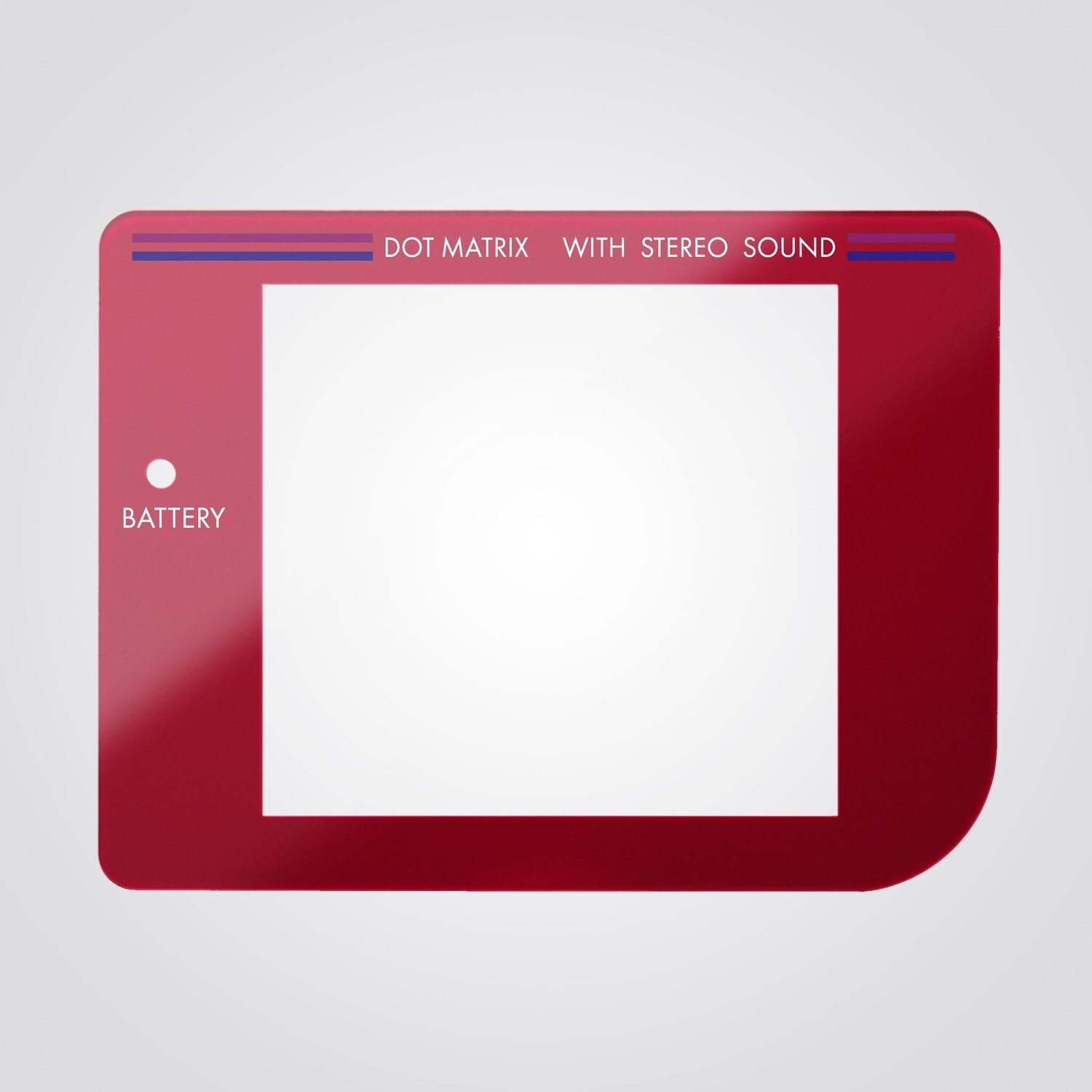 Game Boy Glass Screen (Red)
