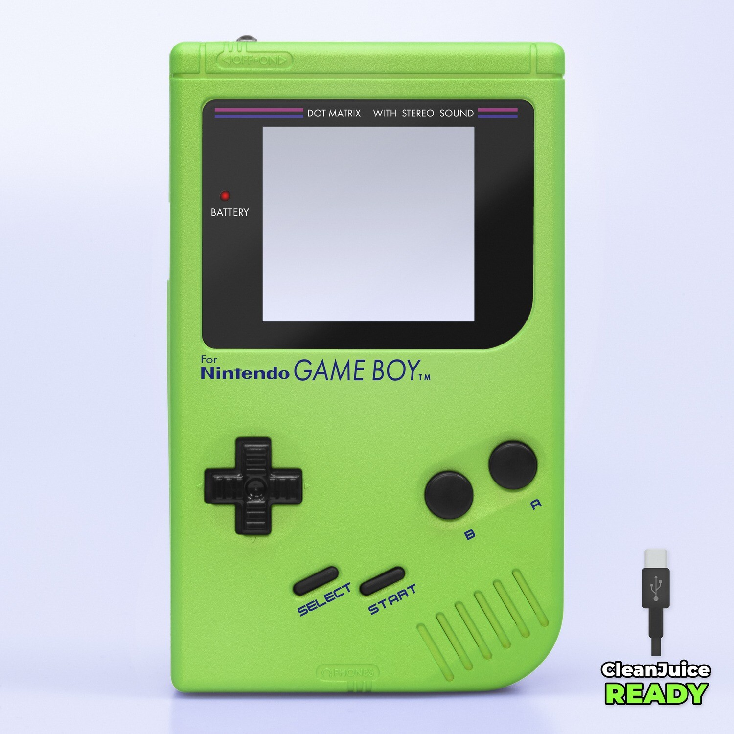 Game Boy Original IPS USB-C Shell Kit (Pearl Green)