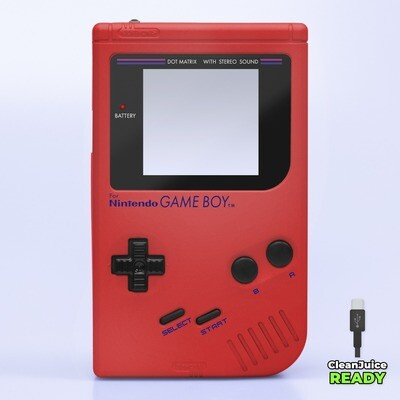 Game Boy Original IPS USB-C Shell Kit (Pearl Red)