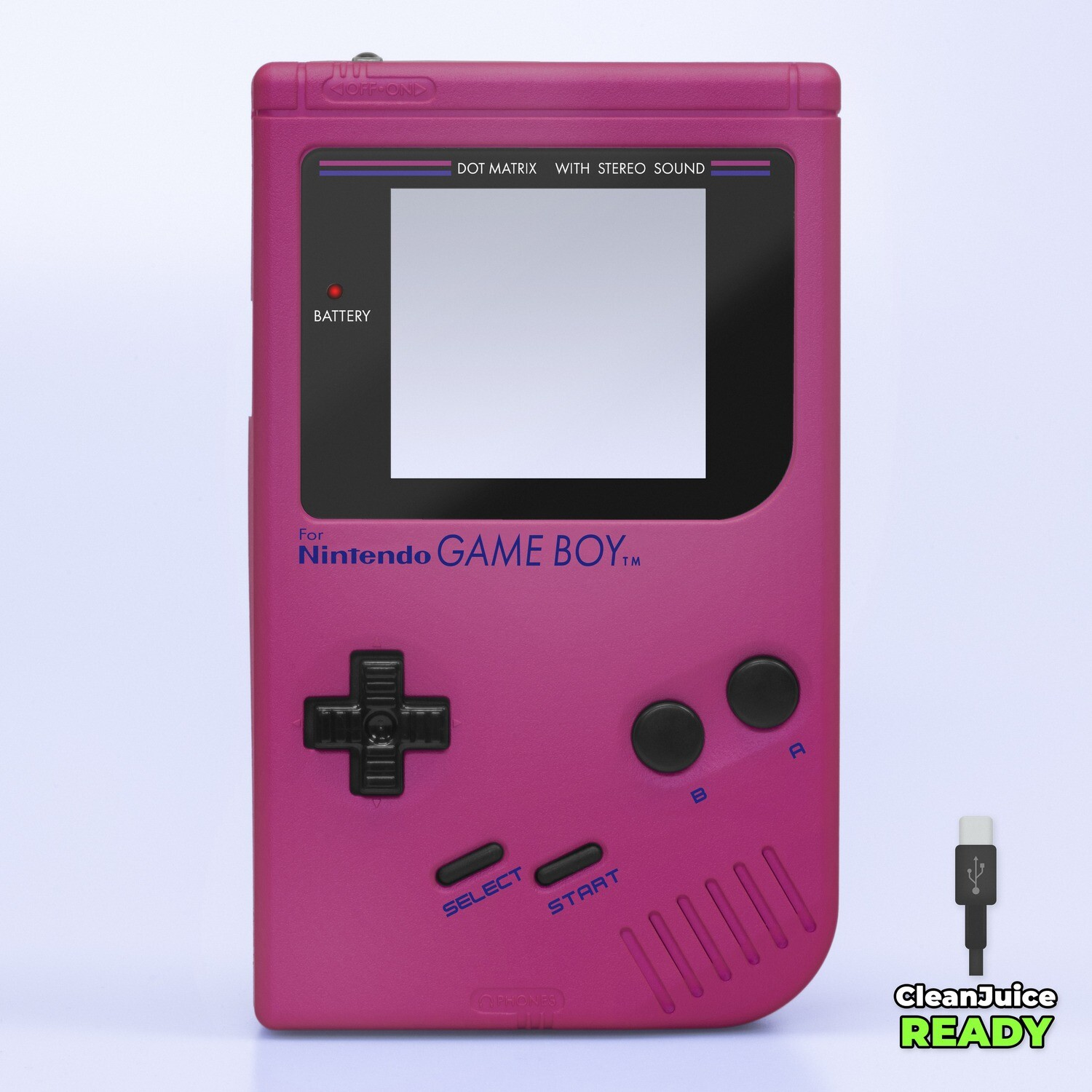 Game Boy Original IPS USB-C Shell Kit (Pearl Pink)