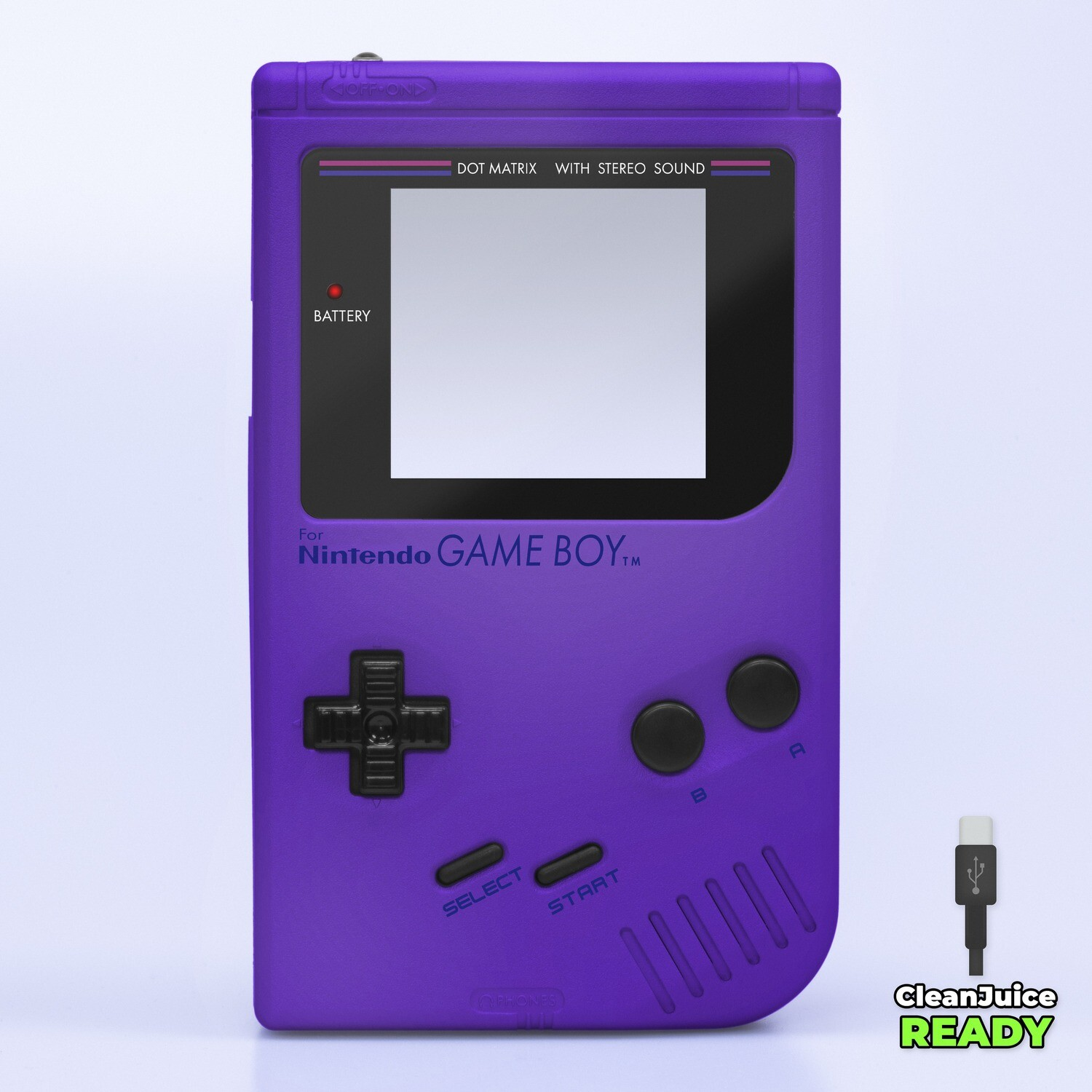 Game Boy Original IPS USB-C Shell Kit (Pearl Purple)