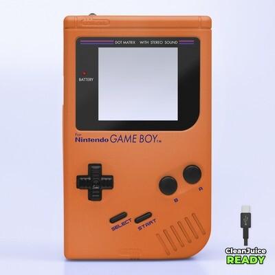 Game Boy Original IPS USB-C Shell Kit (Pearl Orange)