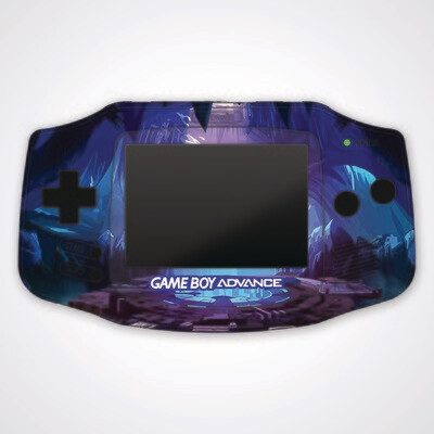 Game Boy Advance IPS UV Print Shell Kit (Cave Portal)