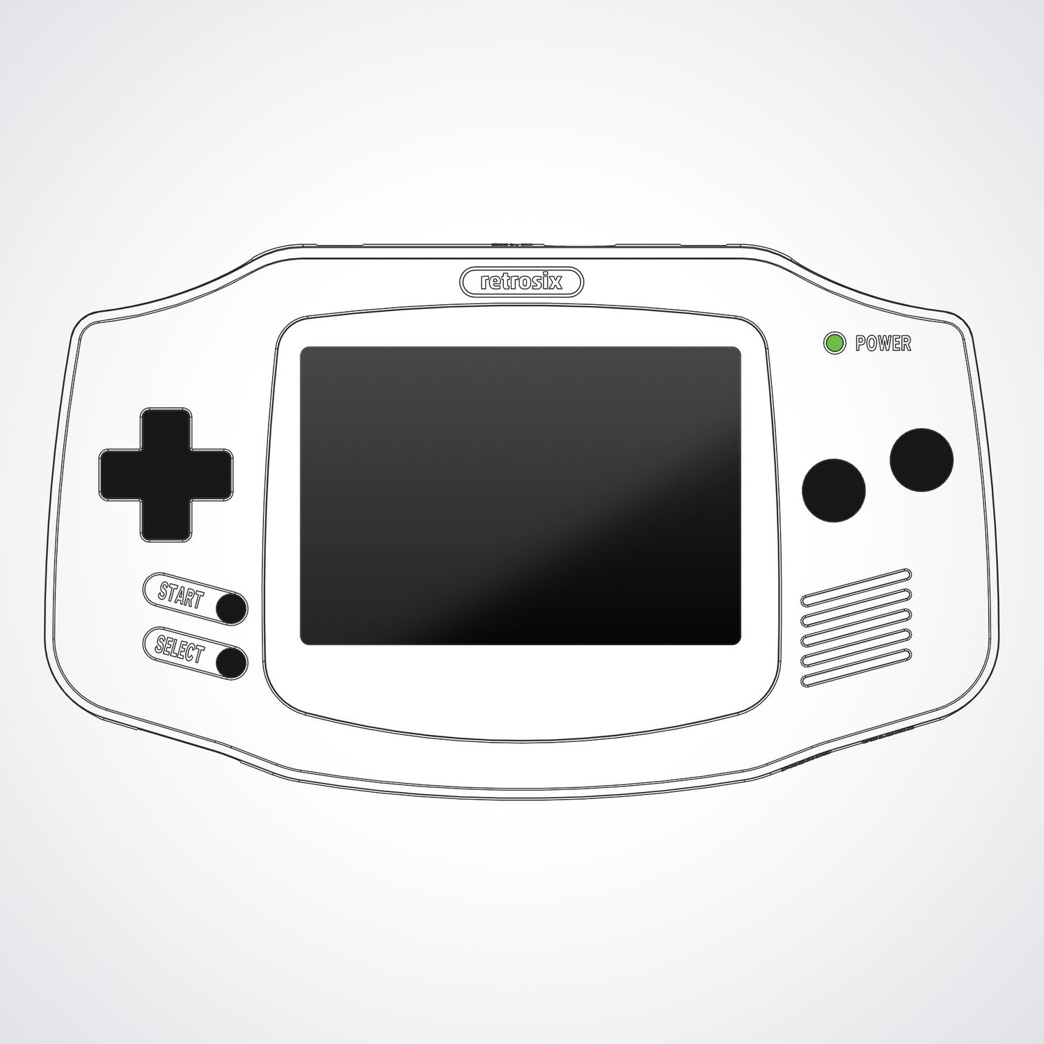 Game Boy Advance Printed Shell (Design Your Own)