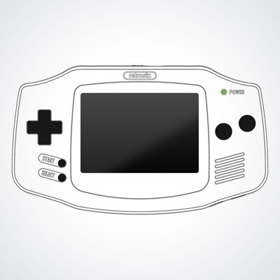 Game Boy Advance UV Print Shell Kit (Design Your Own)