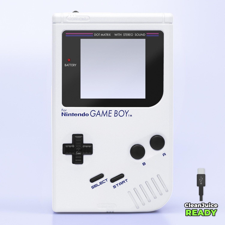 Game Boy Original IPS USB-C Shell Kit (Pearl White)