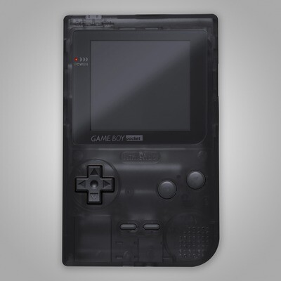 Game Boy Pocket Shell Kit (Clear Black)
