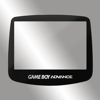 Game Boy Advance IPS Glass Screen (Black Transparent Text)